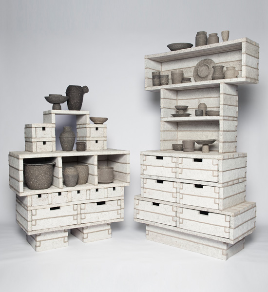 Paperpulp Cabinets by Debbie Wijskamp