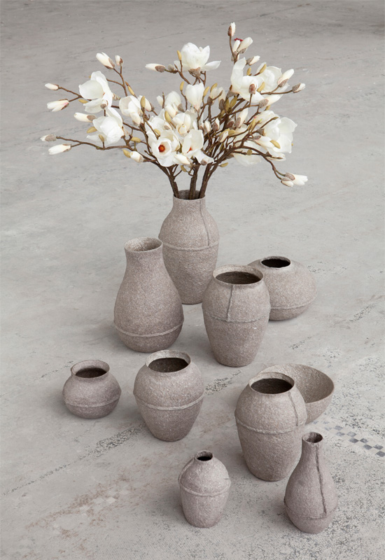 Paperpulp Vases by Debbie Wijskamp for Serax
