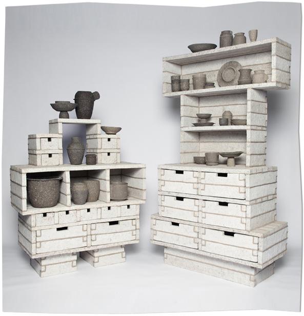 Paperpulp Cabinets by Debbie Wijskamp